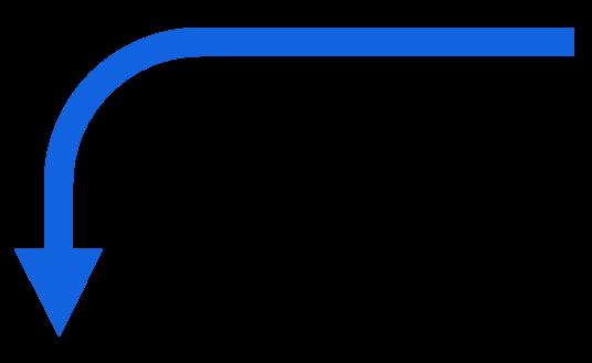 flecha azul